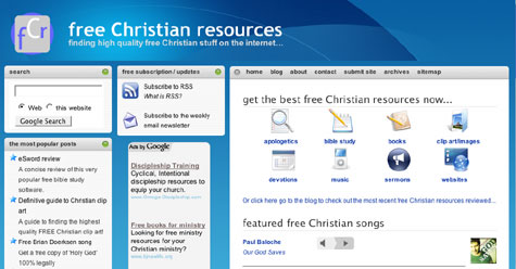 feee Christian resources homepage