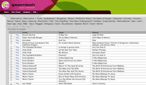 goombah free Christian music