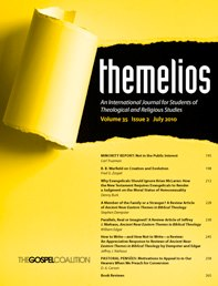 themelios Christian Journal
