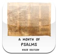 Free psalms nasb month