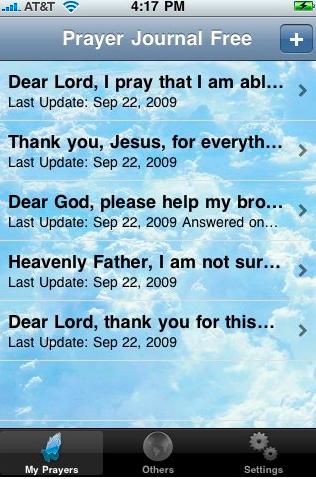 Prayer journal iphone