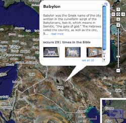 A map of Babylon from biblemap