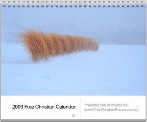 free Christian calendar