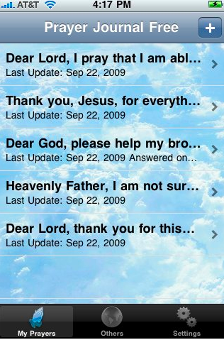 Prayer journal iphone