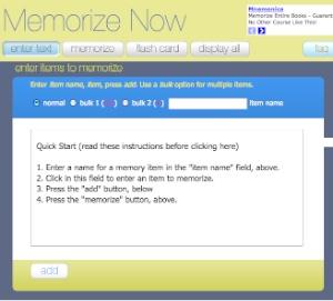 Memorize now